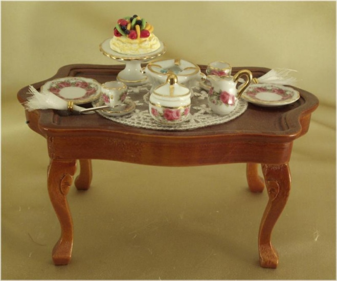 Dollhouse Coffee Table Filled With Dessert Set Js 74 79 00