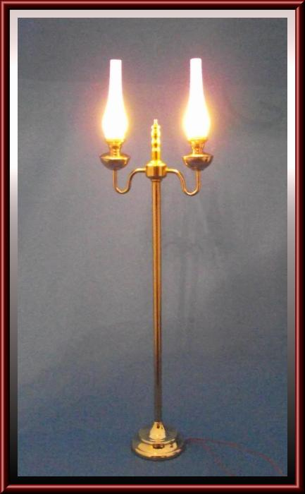 Miniature dollhouse lighting dollhouse linens and more for Clare brass floor lamp
