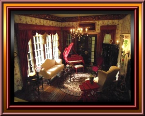 custom dollhouse miniaure drapes and window treatments